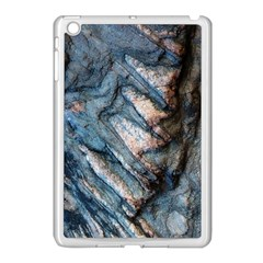 Earth Art Natural Rock Grey Stone Texture Apple Ipad Mini Case (white) by CrypticFragmentsDesign