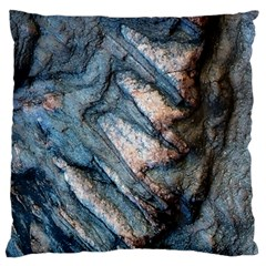 Earth Art Natural Rock Grey Stone Texture Large Flano Cushion Case (one Side) by CrypticFragmentsDesign