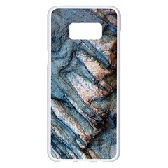 Earth Art Natural Rock Grey Stone Texture Samsung Galaxy S8 Plus White Seamless Case by CrypticFragmentsDesign