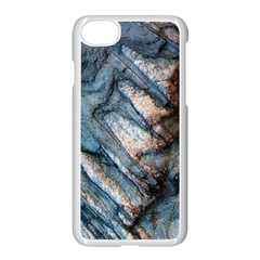Earth Art Natural Rock Grey Stone Texture Apple Iphone 8 Seamless Case (white) by CrypticFragmentsDesign