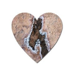 Earth Art Natural Texture Salt Of The Earth Heart Magnet by CrypticFragmentsDesign