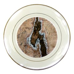 Earth Art Natural Texture Salt Of The Earth Porcelain Plates by CrypticFragmentsDesign