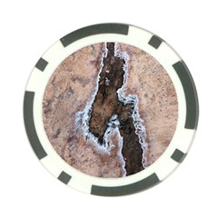 Earth Art Natural Texture Salt Of The Earth Poker Chip Card Guard by CrypticFragmentsDesign
