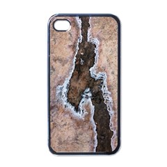 Earth Art Natural Texture Salt Of The Earth Apple Iphone 4 Case (black) by CrypticFragmentsDesign