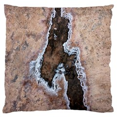 Earth Art Natural Texture Salt Of The Earth Standard Flano Cushion Case (one Side) by CrypticFragmentsDesign