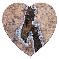 Earth Art Natural Texture Salt Of The Earth Jigsaw Puzzle (heart) by CrypticFragmentsDesign