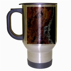 Earth Art Natural Texture Salt Of The Earth Travel Mug (silver Gray) by CrypticFragmentsDesign