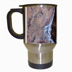 Earth Art Natural Texture Salt Of The Earth Travel Mugs (white) by CrypticFragmentsDesign