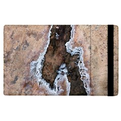 Earth Art Natural Texture Salt Of The Earth Apple Ipad Pro 9 7   Flip Case by CrypticFragmentsDesign