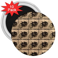 Indian Motorcycle 3  Magnets (10 Pack)  by ArtworkByPatrick1