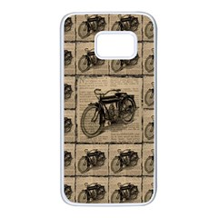 Indian Motorcycle 1 Samsung Galaxy S7 White Seamless Case by ArtworkByPatrick1