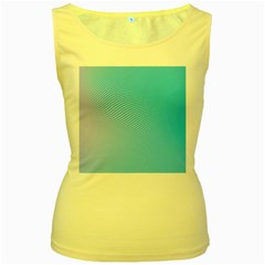 Background Graphics Lines Wave Women s Yellow Tank Top