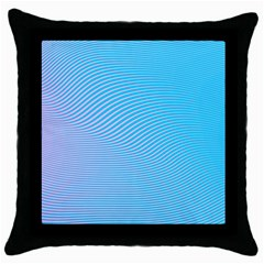Background Graphics Lines Wave Throw Pillow Case (black) by Nexatart