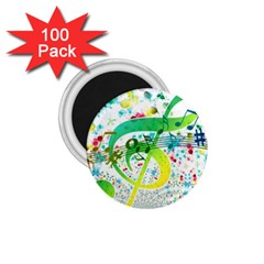 Points Circle Music Pattern 1 75  Magnets (100 Pack)  by Nexatart