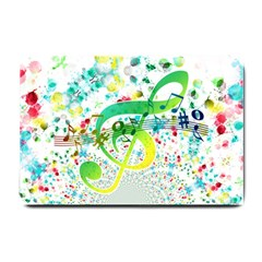 Points Circle Music Pattern Small Doormat