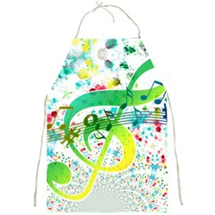 Points Circle Music Pattern Full Print Aprons