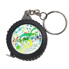 Points Circle Music Pattern Measuring Tape