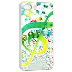 Points Circle Music Pattern Apple Iphone 4/4s Seamless Case (white) by Nexatart