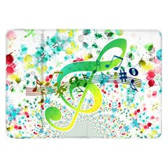 Points Circle Music Pattern Samsung Galaxy Tab 8 9  P7300 Flip Case by Nexatart