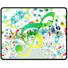 Points Circle Music Pattern Double Sided Fleece Blanket (medium)  by Nexatart