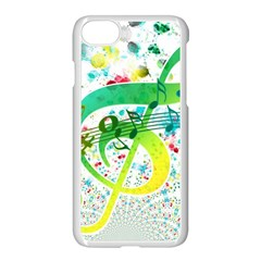 Points Circle Music Pattern Apple Iphone 7 Seamless Case (white) by Nexatart