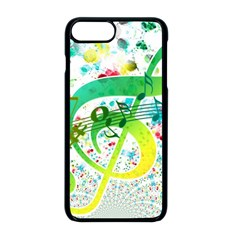 Points Circle Music Pattern Apple Iphone 8 Plus Seamless Case (black)