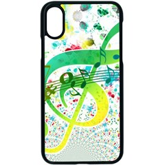 Points Circle Music Pattern Apple Iphone X Seamless Case (black) by Nexatart