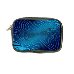 Blue Background Brush Particles Wave Coin Purse