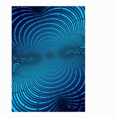 Blue Background Brush Particles Wave Small Garden Flag (two Sides) by Nexatart