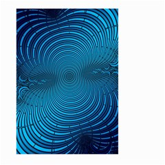 Blue Background Brush Particles Wave Large Garden Flag (two Sides) by Nexatart