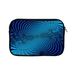 Blue Background Brush Particles Wave Apple Ipad Mini Zipper Cases by Nexatart