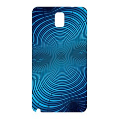 Blue Background Brush Particles Wave Samsung Galaxy Note 3 N9005 Hardshell Back Case by Nexatart