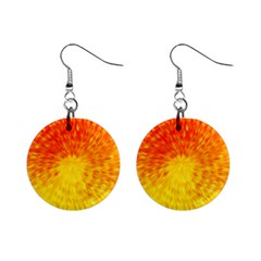 Abstract Explosion Blow Up Circle Mini Button Earrings