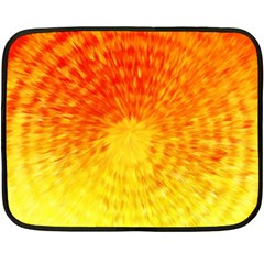 Abstract Explosion Blow Up Circle Double Sided Fleece Blanket (mini)  by Nexatart