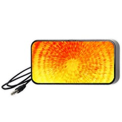 Abstract Explosion Blow Up Circle Portable Speaker