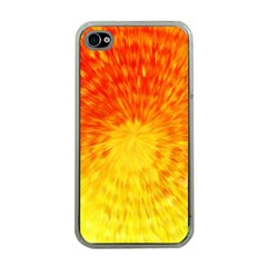Abstract Explosion Blow Up Circle Apple Iphone 4 Case (clear)