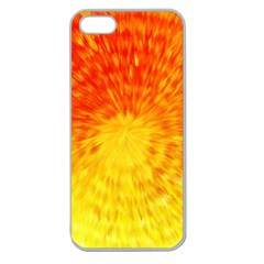 Abstract Explosion Blow Up Circle Apple Seamless Iphone 5 Case (clear)