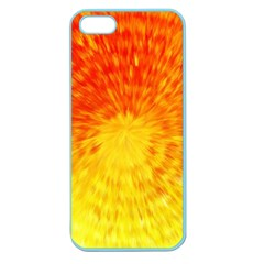 Abstract Explosion Blow Up Circle Apple Seamless Iphone 5 Case (color) by Nexatart