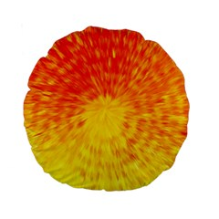 Abstract Explosion Blow Up Circle Standard 15  Premium Round Cushions