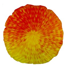 Abstract Explosion Blow Up Circle Large 18  Premium Round Cushions