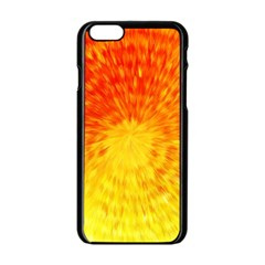 Abstract Explosion Blow Up Circle Apple Iphone 6/6s Black Enamel Case by Nexatart