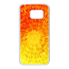 Abstract Explosion Blow Up Circle Samsung Galaxy S7 White Seamless Case by Nexatart