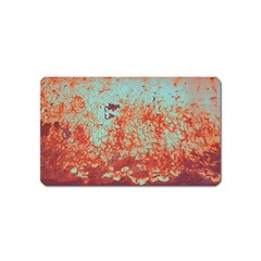 Orange Blue Rust Colorful Texture Magnet (name Card) by Nexatart