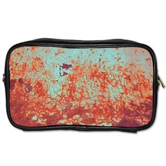 Orange Blue Rust Colorful Texture Toiletries Bags