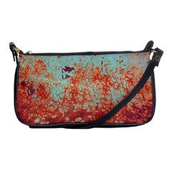 Orange Blue Rust Colorful Texture Shoulder Clutch Bags by Nexatart