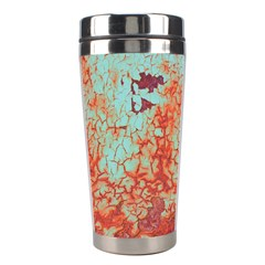 Orange Blue Rust Colorful Texture Stainless Steel Travel Tumblers by Nexatart