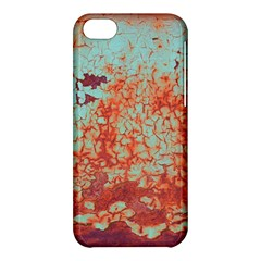 Orange Blue Rust Colorful Texture Apple Iphone 5c Hardshell Case by Nexatart