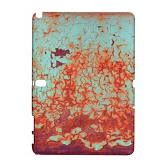 Orange Blue Rust Colorful Texture Samsung Galaxy Note 10 1 (p600) Hardshell Case