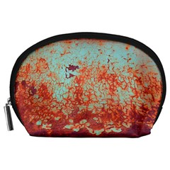 Orange Blue Rust Colorful Texture Accessory Pouches (large)  by Nexatart