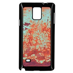 Orange Blue Rust Colorful Texture Samsung Galaxy Note 4 Case (black) by Nexatart